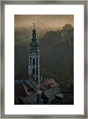 Framed Print featuring the photograph Sunbeams Through The Morning Fog by Stuart Litoff