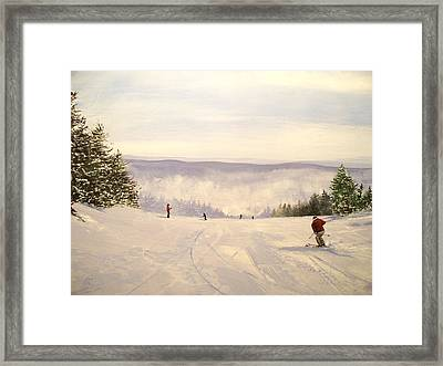 sunbowl at Stratton Mountain Vermont Framed Print by Ken Ahlering