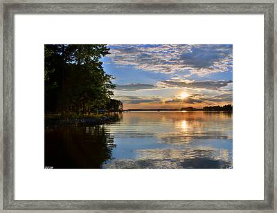 Sunburst At Sundown Framed Print