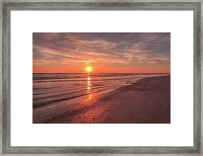 Sunburst At Sunset Framed Print