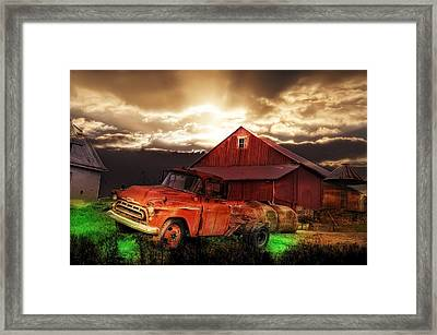 Sunburst At The Farm Framed Print by Bill Cannon