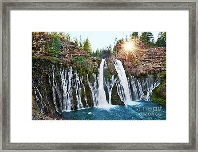 Sunburst Falls - Burney Falls Is One Of The Most Beautiful Waterfalls In California Framed Print