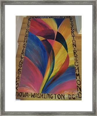 Sunburst Floorcloth Framed Print
