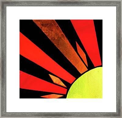 Framed Print featuring the photograph Sunburst by Kristin Elmquist
