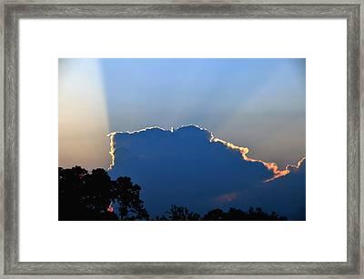 Sunburst Framed Print by Lyle  Huisken