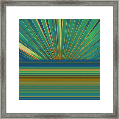 Framed Print featuring the photograph Sunburst by Michelle Calkins