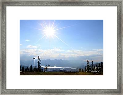 Sunburst Over Lake Dillon Framed Print