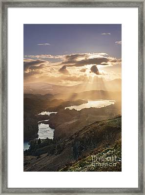 Sunburst Over Loch Ard 2 Framed Print by Rod McLean