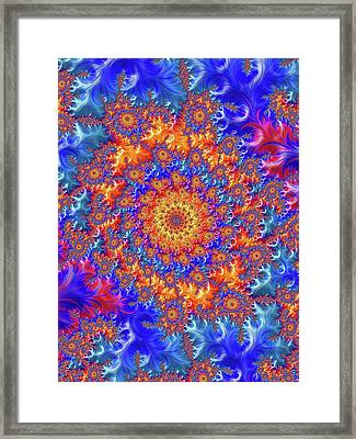 Sunburst Supernova Framed Print