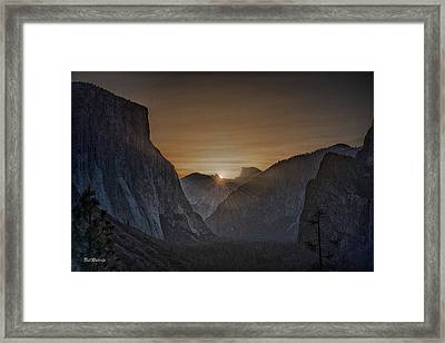 Sunburst Yosemite Framed Print