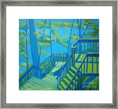 Suncook Stairwell Framed Print by Debra Bretton Robinson