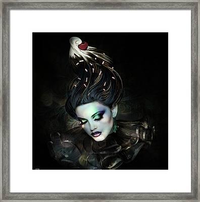 Sundae Clown Framed Print