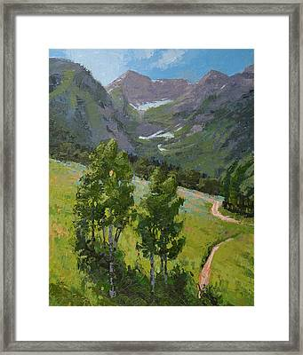 Sundance Mountain Bike Trail Framed Print