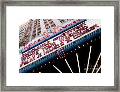 Sundance Next Fest Theatre Sign 3 Framed Print