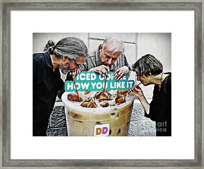 Sunday Afternoon At Dunkin Donuts 12 Framed Print