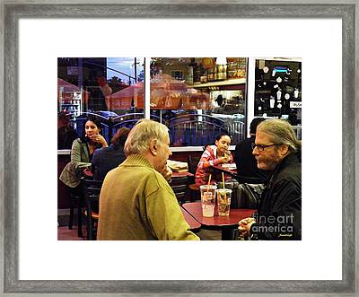 Sunday Afternoon At Dunkin Donuts 8 Framed Print