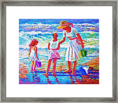 Sunday Afternoon At The Beach Framed Print