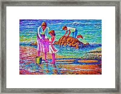 Sunday Afternoon Beach Study Framed Print