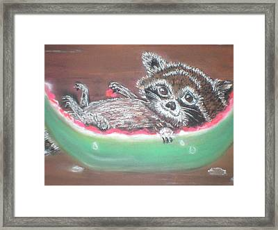 Sunday Afternoon Brunch Framed Print by Terry Lash