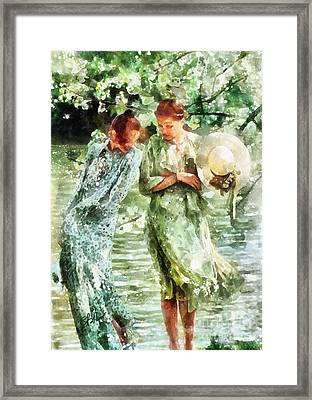 Sunday Afternoon By The Lake Framed Print by Shirley Stalter