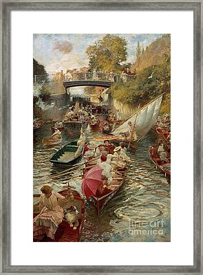 Sunday Afternoon Framed Print by Edward John Gregory
