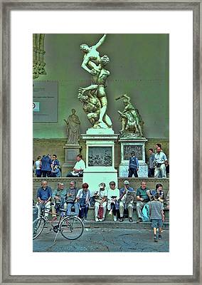 Sunday Afternoon In Florence Framed Print