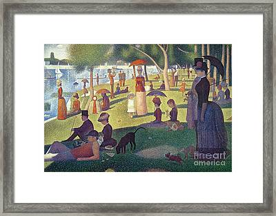 Sunday Afternoon On The Island Of La Grande Jatte Framed Print by Georges Pierre Seurat