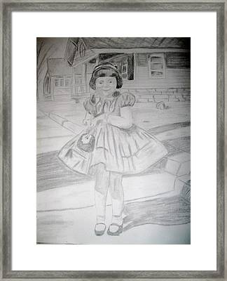 Framed Print featuring the drawing Sunday Best by Rebecca Wood