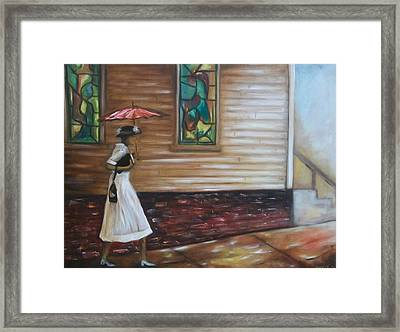 Framed Print featuring the painting Sunday by Emery Franklin