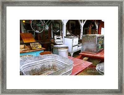 Sunday Flee Market Framed Print by Laura Birr Brown