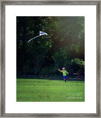 Sunday Funday At Honor Heights In Vertical Framed Print by Tamyra Ayles