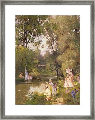 Sunday In The Park Framed Print by Philippe Jacques Linder