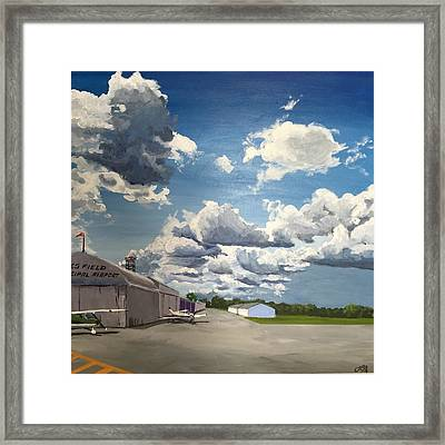 Sunday Lunch At The Airport Cafe Framed Print by Leigh Ann Inskeep-Simpson
