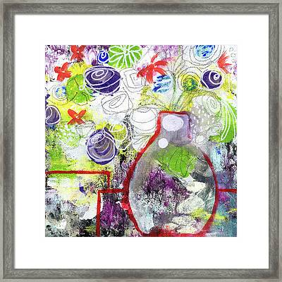 Sunday Market Flowers 3- Art By Linda Woods Framed Print by Linda Woods