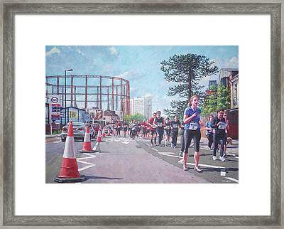 Sunday Morning Abp Marathon. Northam, Southampton  Framed Print