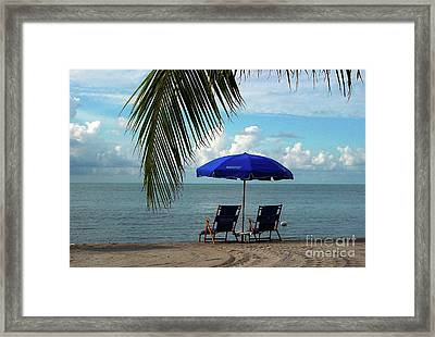 Sunday Morning At The Beach In Key West Framed Print by Susanne Van Hulst