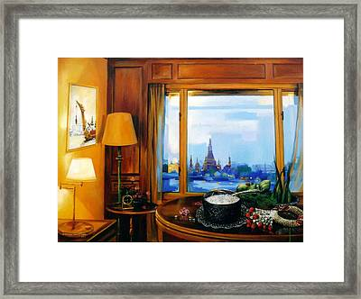 Framed Print featuring the painting Sunday Morning by Chonkhet Phanwichien