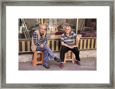Sunday Morning Conversation Framed Print
