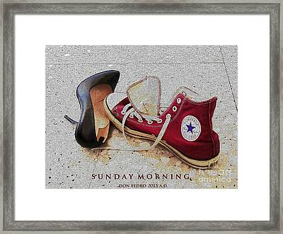 Framed Print featuring the photograph Sunday Morning by Don Pedro De Gracia