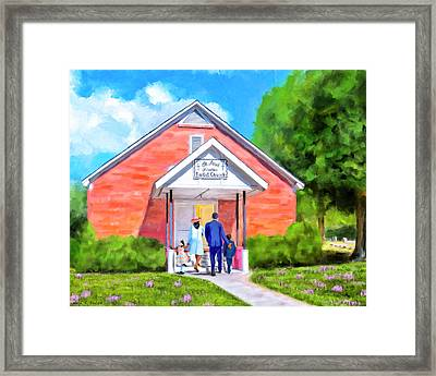 Framed Print featuring the painting Sunday Morning In South Georgia by Mark Tisdale