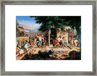 Sunday Morning In The Mines Framed Print by Charles Christian Nahl
