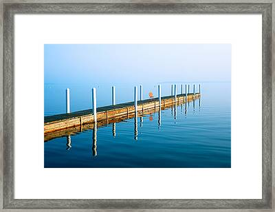 Sunday Morning Pier Framed Print