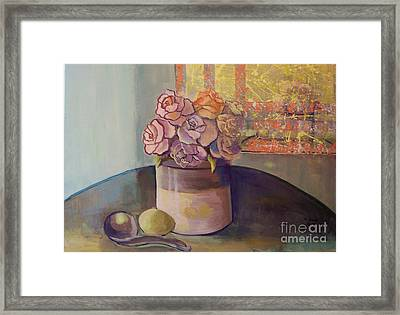 Sunday Morning Roses Through The Looking Glass Framed Print by Marlene Book