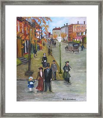 Sunday Morning Stroll Framed Print by Aurelia Nieves-Callwood