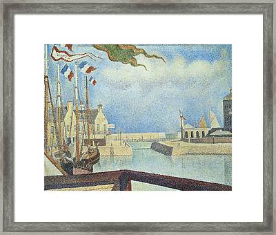 Sunday  Port-en-bessin Framed Print