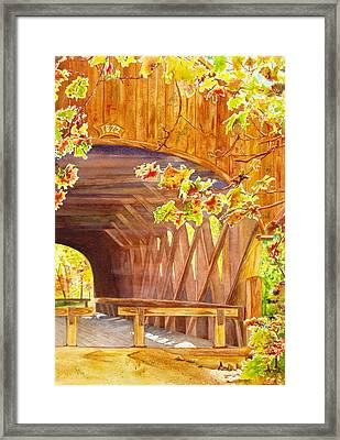 Sunday River Bridge Framed Print