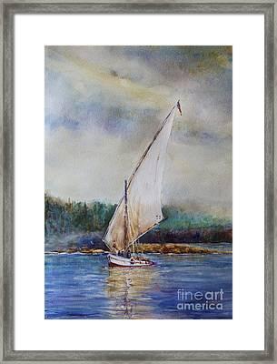 Sunday Sail Framed Print by Joyce A Guariglia