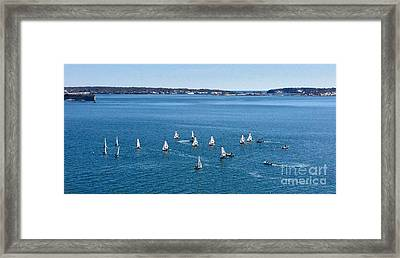 Sunday Sailing School On Casco Bay Framed Print