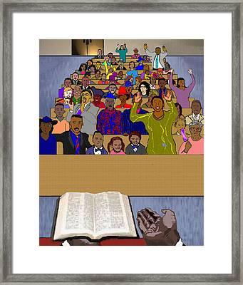 Sunday Sermon Framed Print by Pharris Art