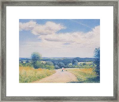 Sunday Stroll Framed Print